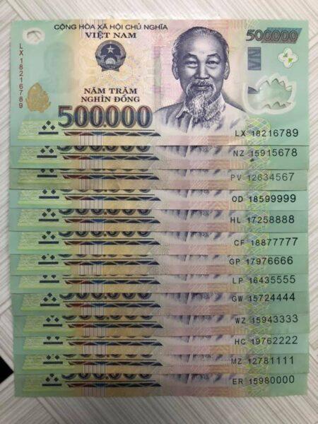 Hình ảnh tiền, nhiều tiền 500k