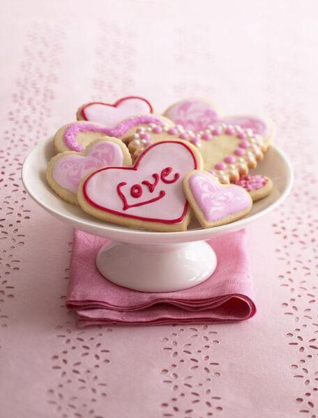 hình ảnh valentine đẹp - chiếc bánh tình yêu
