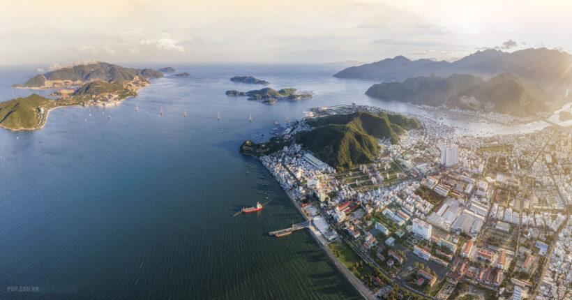 Hình ảnh vịnh Nha Trang đẹp trong nắng sớm
