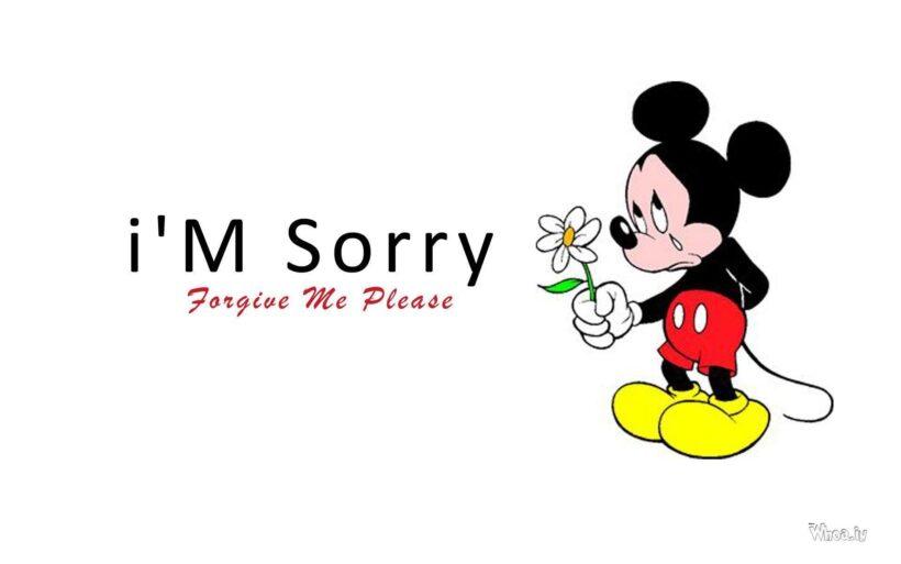 hình ảnh xin lỗi chuột mickey