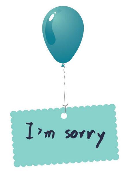 hình ảnh xin lỗi đơn giản dễ thương
