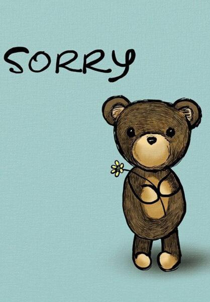 hình ảnh xin lỗi siêu đáng yêu