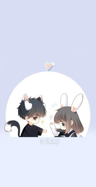 hình cặp đôi anime chibi dễ thương