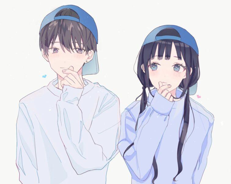 hình cặp đôi anime nam nữ yêu nhau
