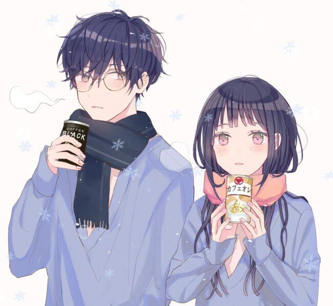 hình cặp đôi yêu nhau anime