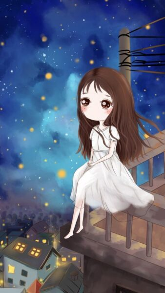 Hình Chibi buồn cô đơn