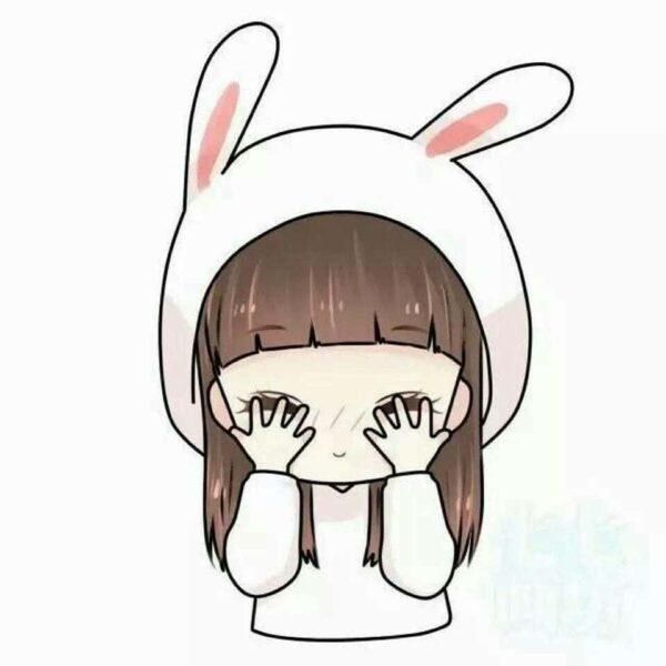 Hình Chibi buồn ôm mặt khóc