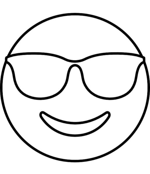 hình icon mặt cười đeo kính