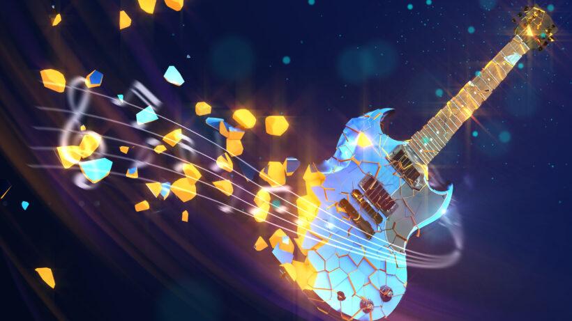 hình nền âm nhạc guitar 4K