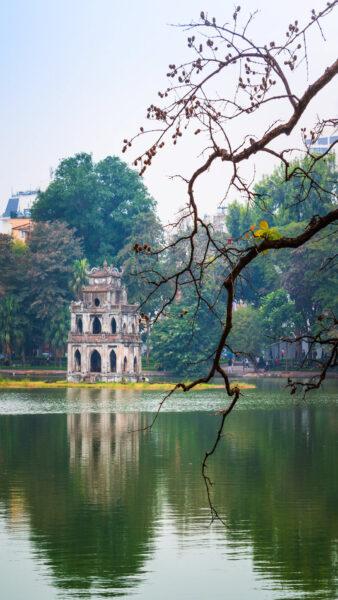 Hình nền Hà Nội với Hồ Gươm