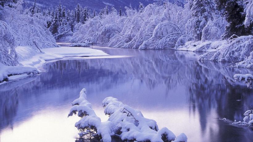 hình nền mùa đông tuyết rơi đẹp cho máy tính