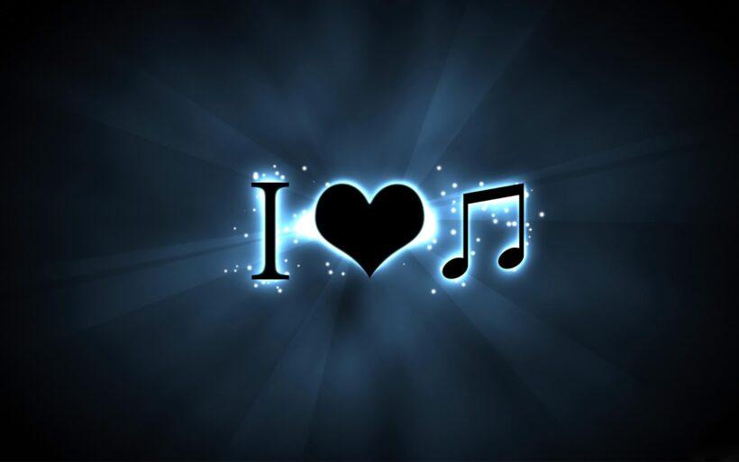 hình nền tôi yêu âm nhạc nền tối