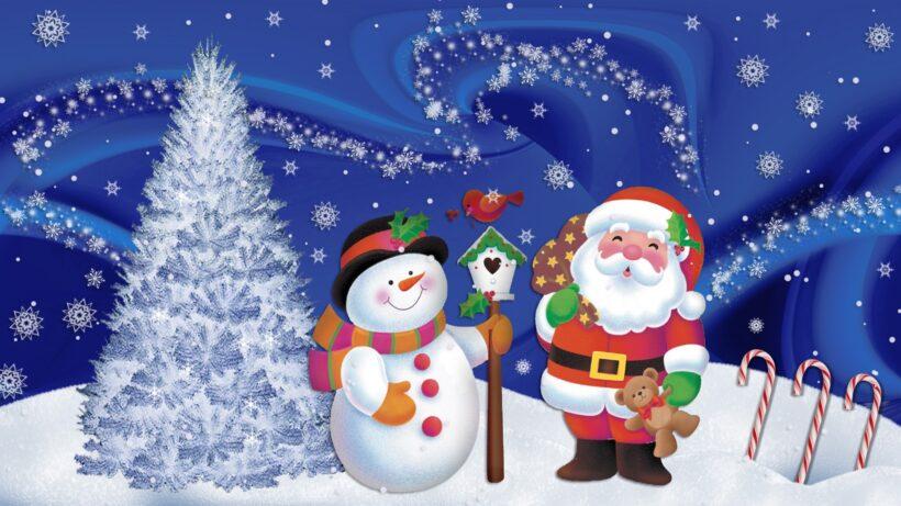 Hình ông già Noel và người tuyết