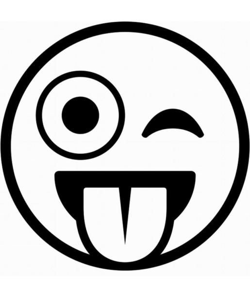 hình vẽ icon mặt cười nháy mắt le lười