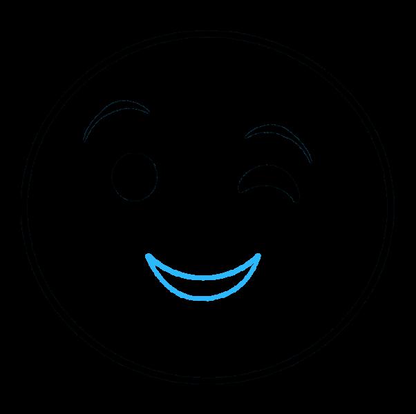 hình vẽ mặt cười dễ thương