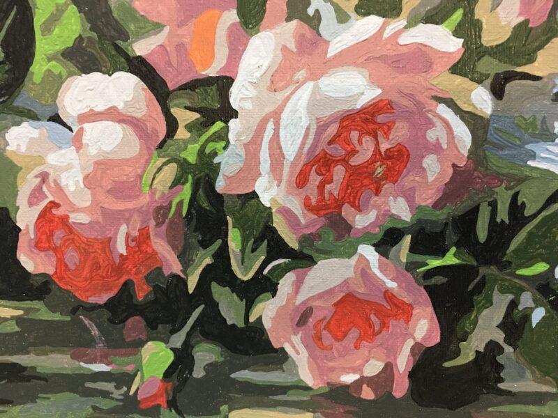 Hình vẽ vườn hoa hồng