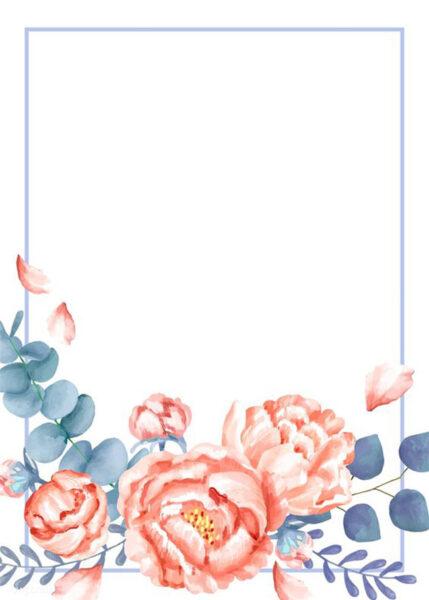 khung hình đẹp hình bông hoa