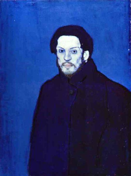 Self-Portrait in Blue Période