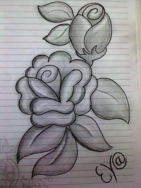 Tranh vẽ hoa hồng đơn giản nhất