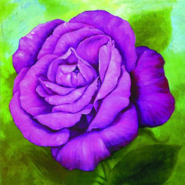 Tranh vẽ hoa hồng tím đẹp nhất