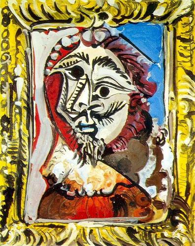 Tranh vẽ Picasso Buste d`homme encadre