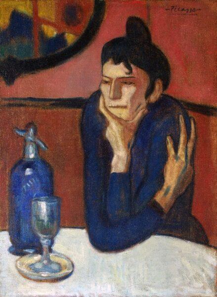 Tranh vẽ Picasso Buveur dAbsinthe