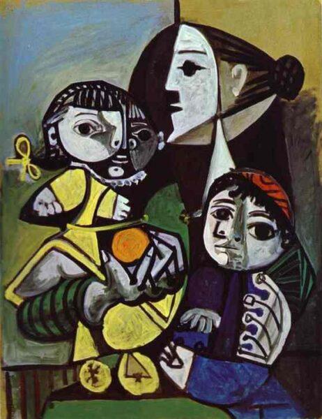 Tranh vẽ Picasso Françoise, Claude et Paloma