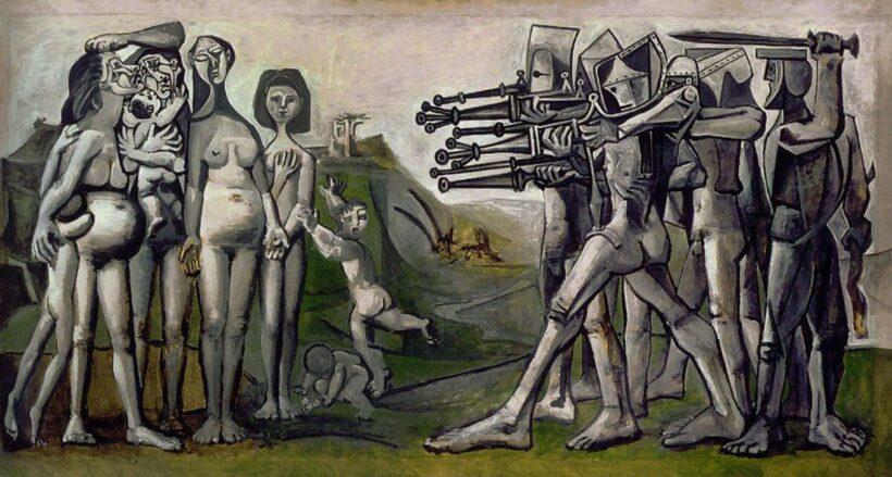 Tranh vẽ Picasso MASSACRE IN KOREA