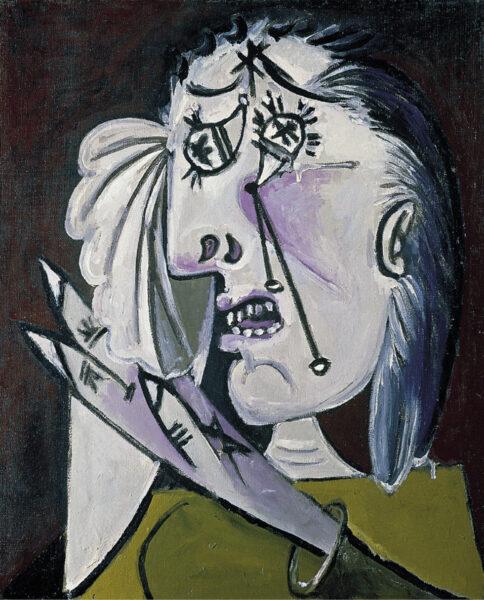 Tranh vẽ Picasso người đàn bà khóc