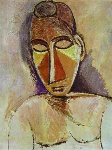 Tranh vẽ Picasso Nude (demi-longueur)