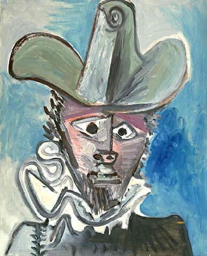 Tranh vẽ Picasso Tête de mousquetaire II