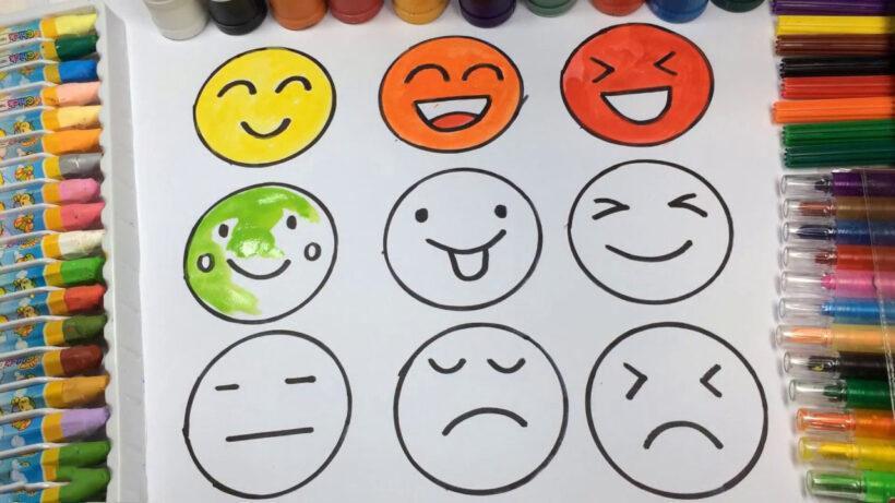 Vẽ hình mặt cười dễ thương