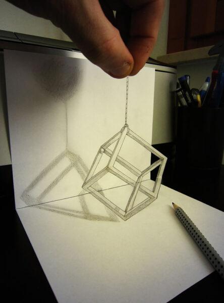 Vẽ tranh 3D bằng bút chì