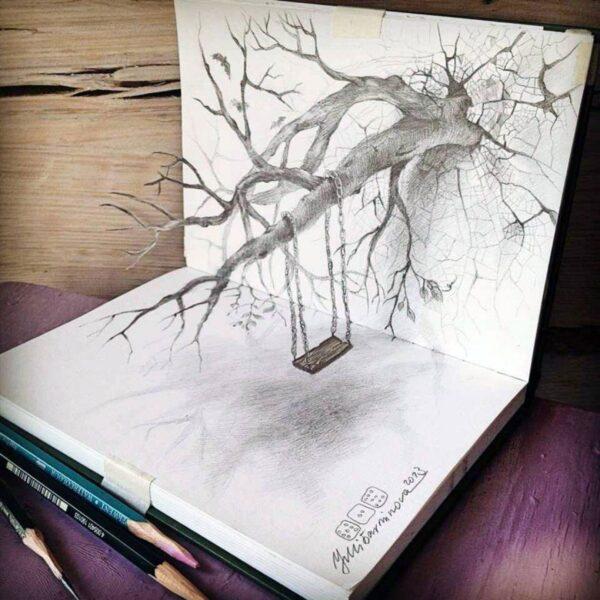 Vẽ tranh 3D bằng bút chì đẹp đến ngỡ ngàng