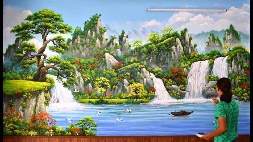 Vẽ tranh 3D phong cảnh cực đẹp