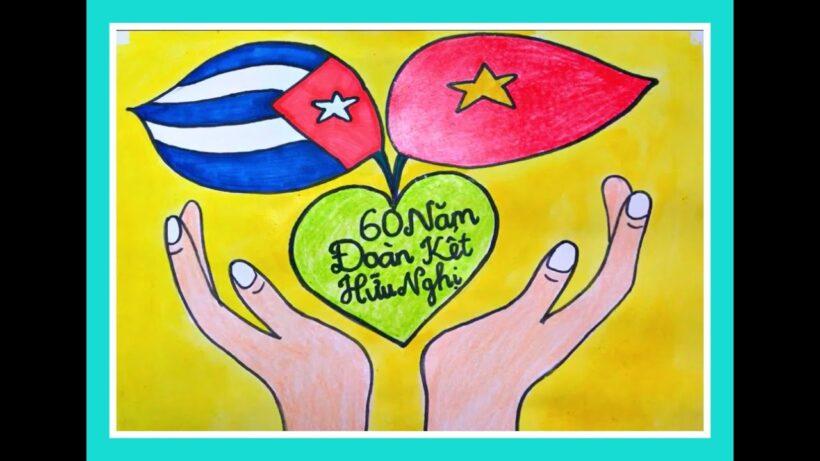 Vẽ tranh 60 năm đoàn kết hữu nghị Việt Nam - Cuba