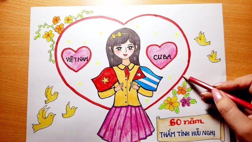 Vẽ tranh 60 năm tình hữu nghị Việt Nam - Cuba