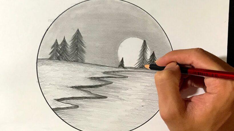 Vẽ tranh bằng bút chì đơn giản mà đẹp