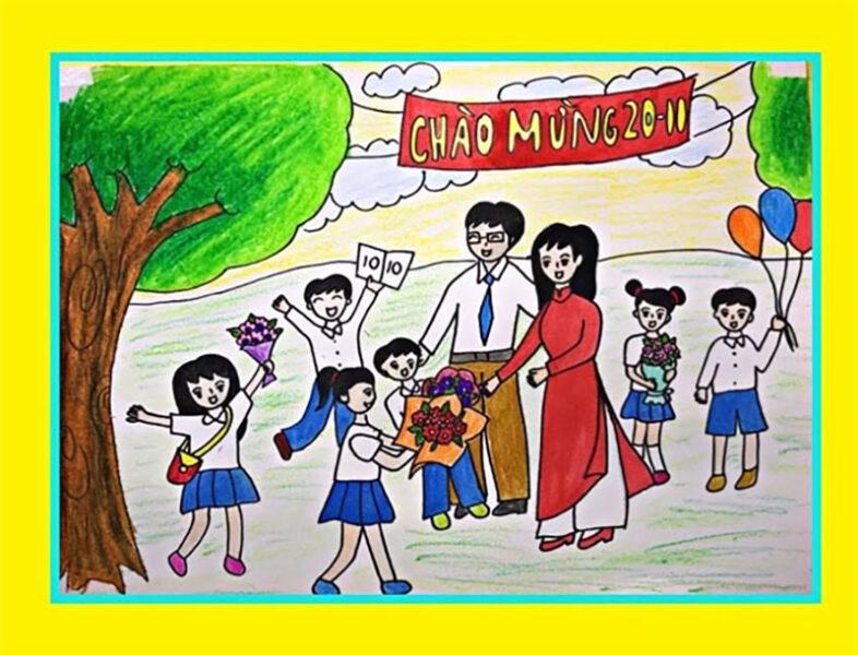 Vẽ tranh chào mừng 20 11 Ngày Nhà Giáo Việt Nam