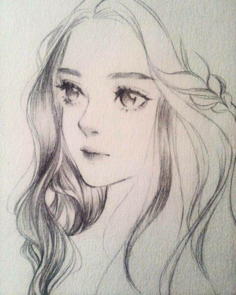 Vẽ tranh cô gái bằng bút chì đẹp