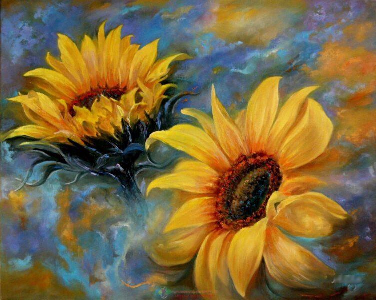 vẽ tranh đề tài hoa hướng dương