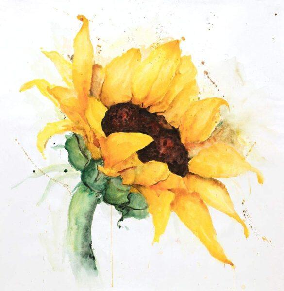 vẽ tranh đề tài hoa hướng dương đầy nghệ thuật