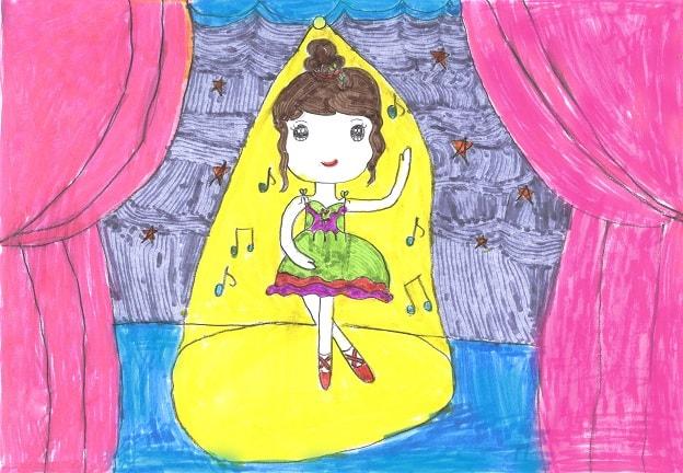 vẽ tranh đề tài ước mơ của em làm vũ công