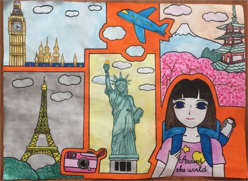vẽ tranh đề tài ước mơ của em lớp 8 đẹp nhất cho các bạn học sinh