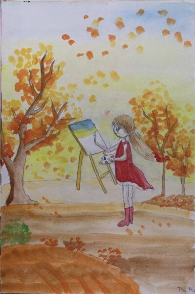 vẽ tranh đề tài ước mơ của em trở thành họa sĩ