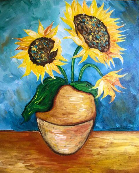 vẽ tranh lọ hoa hướng dương