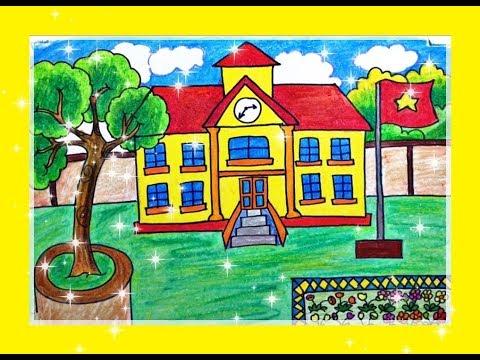 vẽ tranh ngôi trường của em