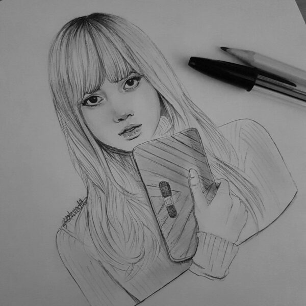 Vẽ tranh người con gái buồn