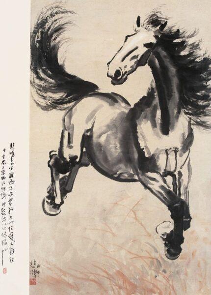Vẽ tranh thuỷ mặc ngựa