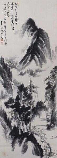 Vẽ tranh thuỷ mặc phong cách Trung Hoa